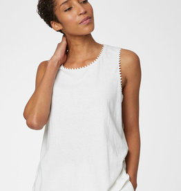 THOUGHT Camisole blanche à chevrons