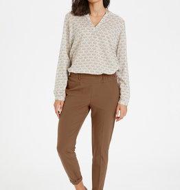KAFFE Pantalon droit brun