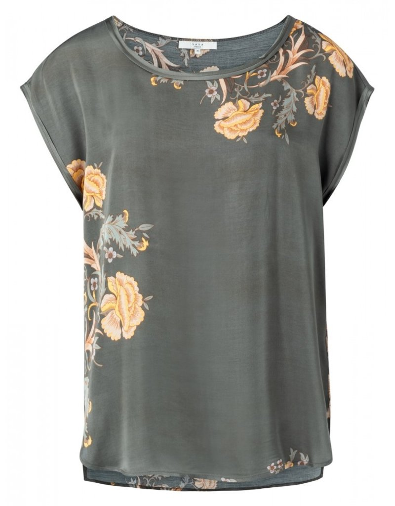 YAYA Tee-shirt fleuri