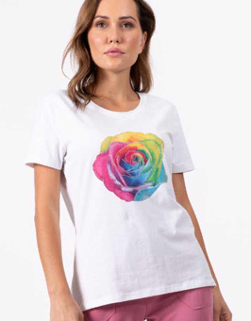 CYC Tee-shirt à rose multicolore