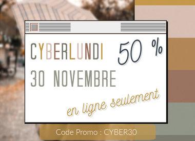 CYBER LUNDI SOLDES 50 %