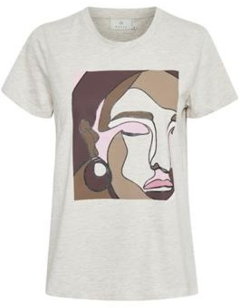 KAFFE Tee-shirt abstrait