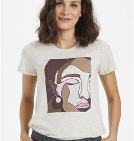 KAFFE Tee-shirt abstrait