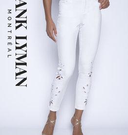 FRANK LYMAN Jeans blanc brodé 201108U