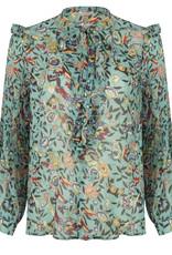 ESQUALO Blouse à motifs turquoise