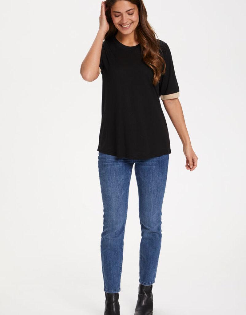 KAFFE Tee-shirt noir