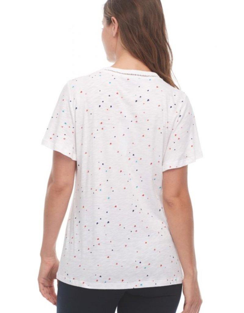 FDJ FRENCH DRESSING JEANS Tee-shirt Coeurs