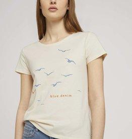 TOM TAILOR Tee-shirt Oiseaux