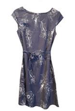 NILE Robe bleu gris à fleurs