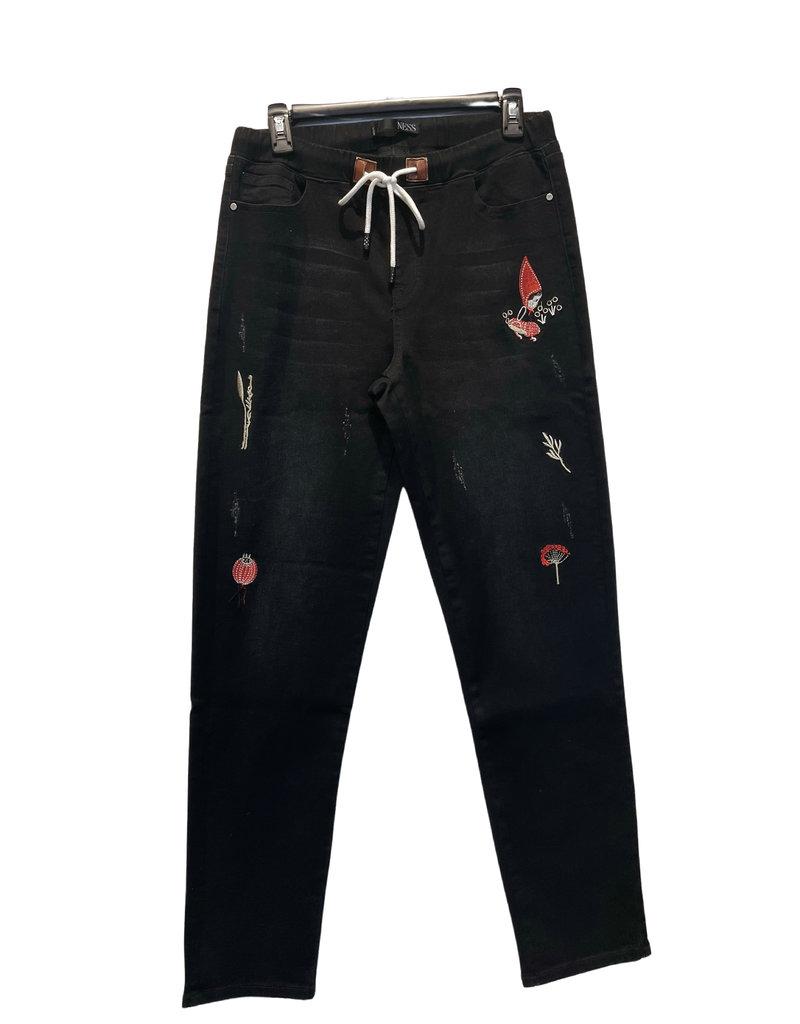 NESS Jeans brodé