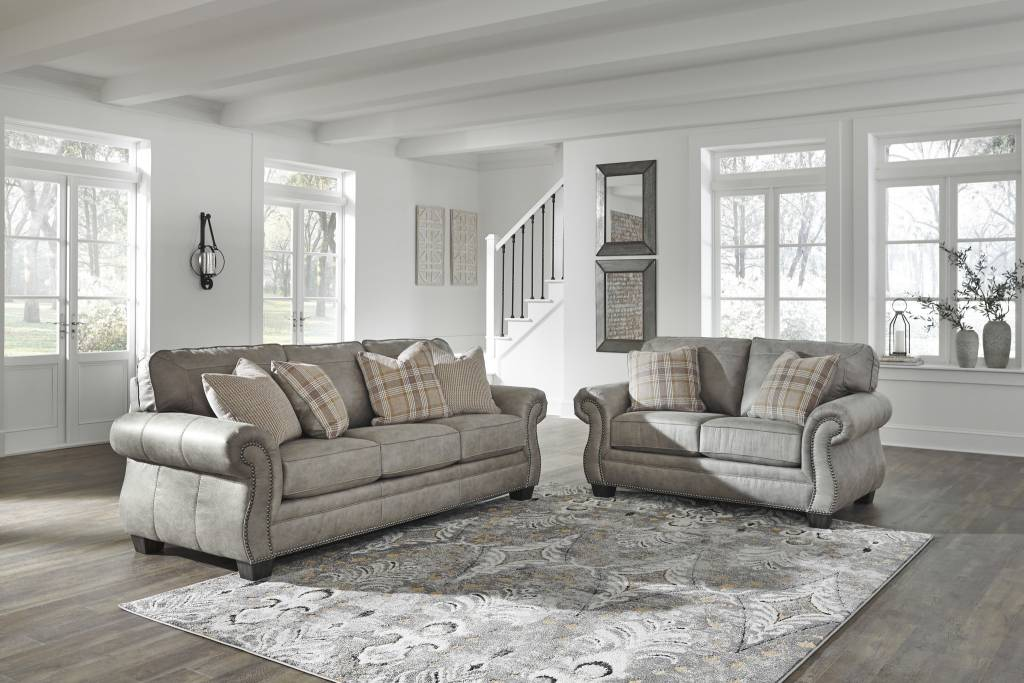 Signature Design Olsberg Loveseat Steel Gray 4870135