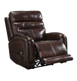 Signature Design Ailor- Leather Power Recliner w/ Adjustable Headrest- Brown 7550513