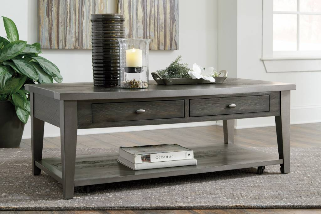 Signature Design Branbury- Rectangular Cocktail Table, Grayish Brown T646-1