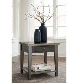 Signature Design Branbury- Rectangular End Table- Grayish Brown T646-3