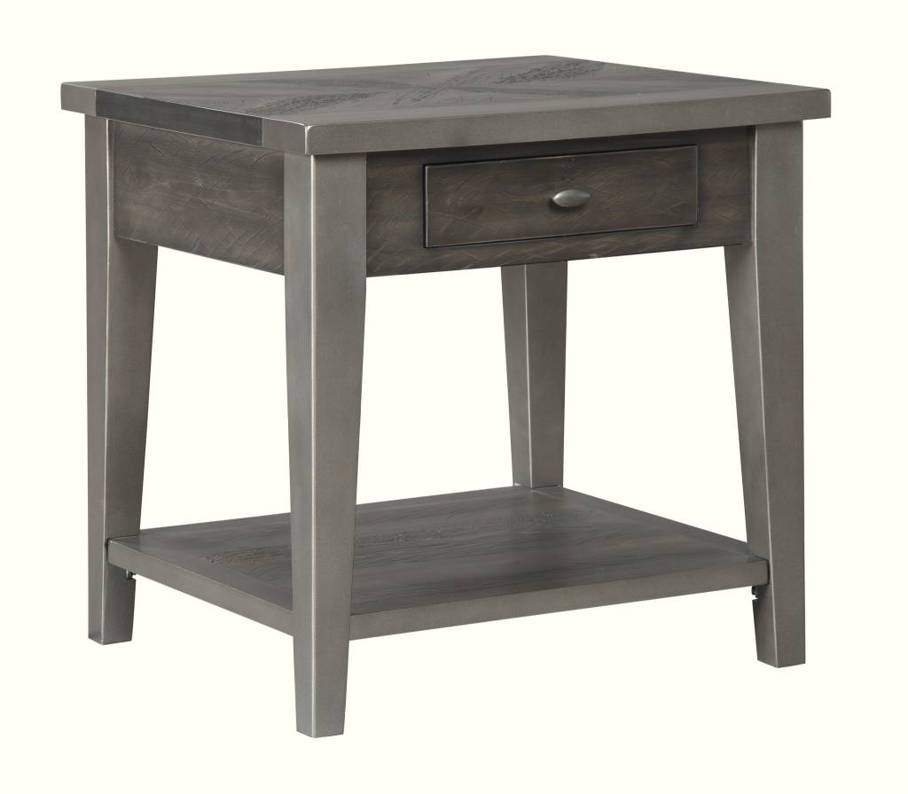 Signature Design Branbury- Rectangular End Table- Grayish Brown T646-3