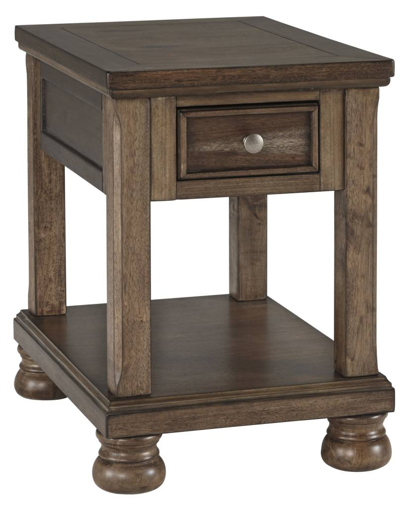 Signature Design Flynnter- Chairside End Table- Medium Brown T716-3