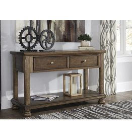 Signature Design Flynnter- Console Sofa Table- Medium Brown- T716-4