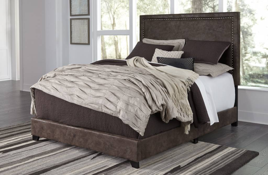 Benchcraft BROWN B130-281 Dolante QUEEN UPHOLSTERED BED-