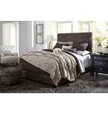 Benchcraft QUEEN BROWN B130-281 Dolante UPHOLSTERED BED-