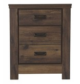 Signature Design Quinden- TWO DRAWER NIGHT STAND, Dark Brown B246-92