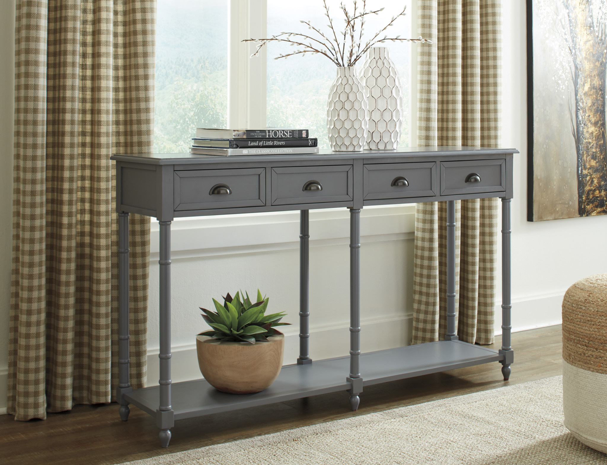Signature Design Eirdale Console Sofa Table- Gray A4000188
