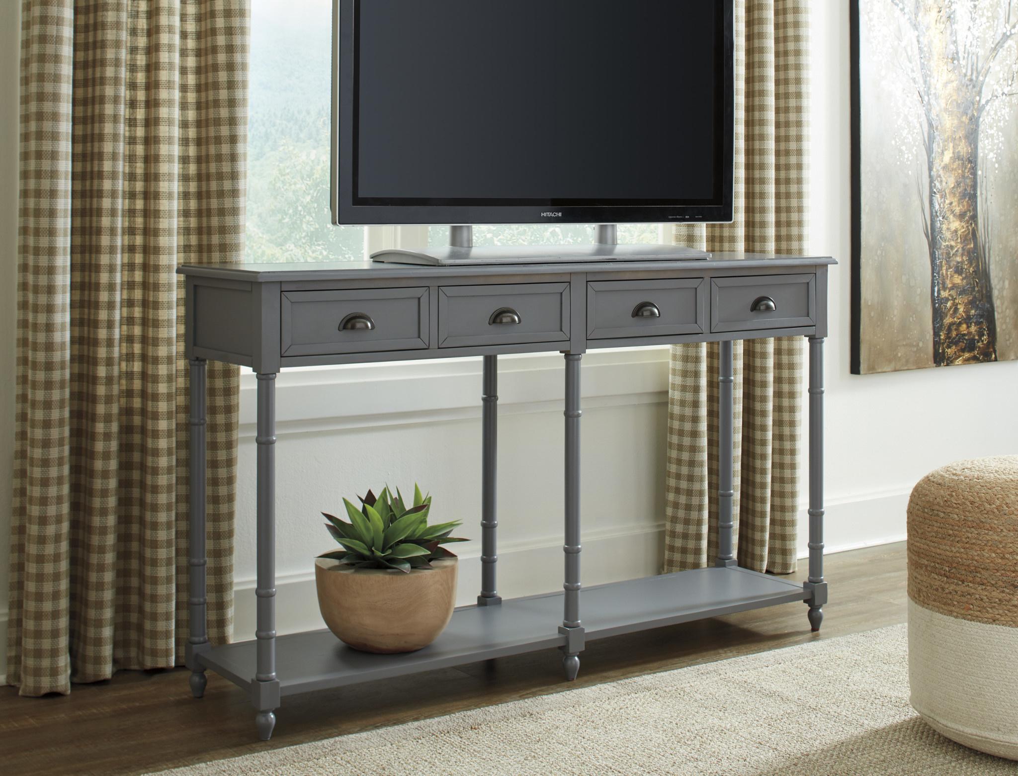 Signature Design Eirdale Console Sofa Table- Gray A4000188