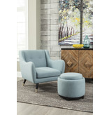 Signature Design Menga- Storage Ottoman- Teal A3000033