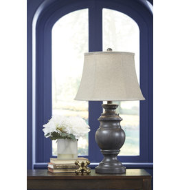 Signature Design Leonadra Table Lamps Set of 2- Antique Black L235354