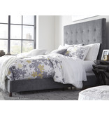 Signature Design GRAY (new) B130-882 Dolante KING Upholstered Beds