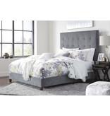 Signature Design GRAY (new) B130-881 Dolante QUEEN Upholstered Bedframe