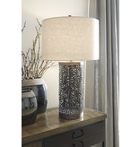 Metal Table Lamp Dayo- Gray/Gold Finish- L207364