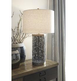 Signature Design Metal Table Lamp Dayo- Gray/Gold Finish- L207364