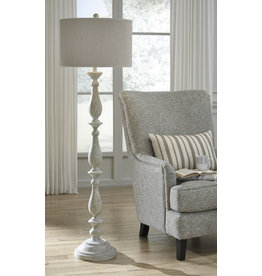 Bernadate- Whitewash Floor Lamp- L235341