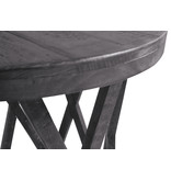 Signature Design Round End Table- Sharzane- Grayish Brown- T711-6