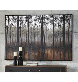 Wall Art- Philyra- Black/Orange/Silver- A8000253