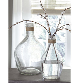 Signature Design Vase Set of 2- Marcin- Clear