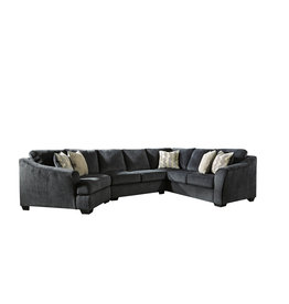 Signature Design Eltmann 3 piece Sectional-  Slate 4130334,349,376