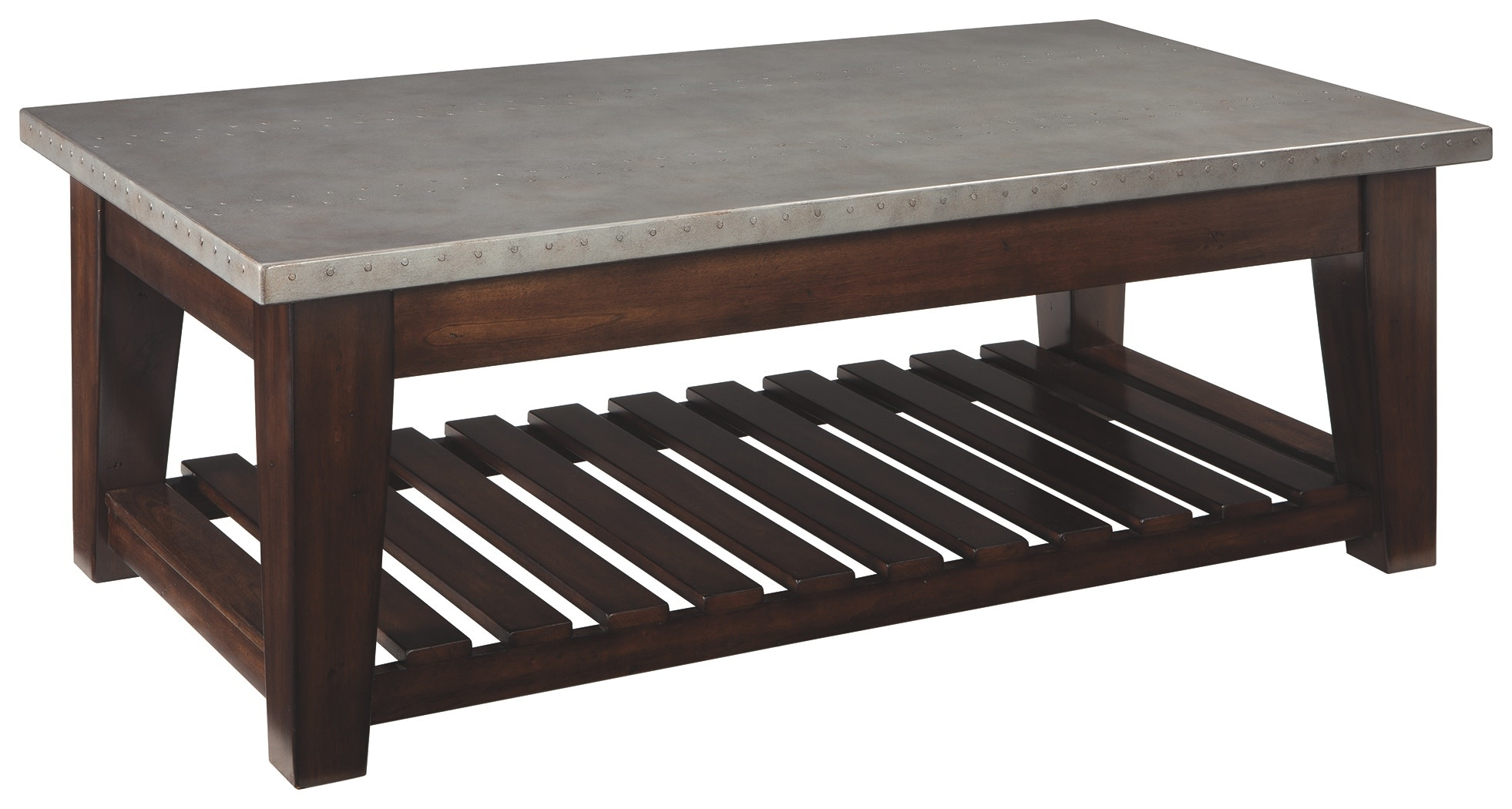 Signature Design Bynderman Lift Top Cocktail Table- Brown/Silver Finish T882-9