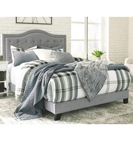 Benchcraft Queen Gray Upholstered Bedframe- Jerary- B090-381