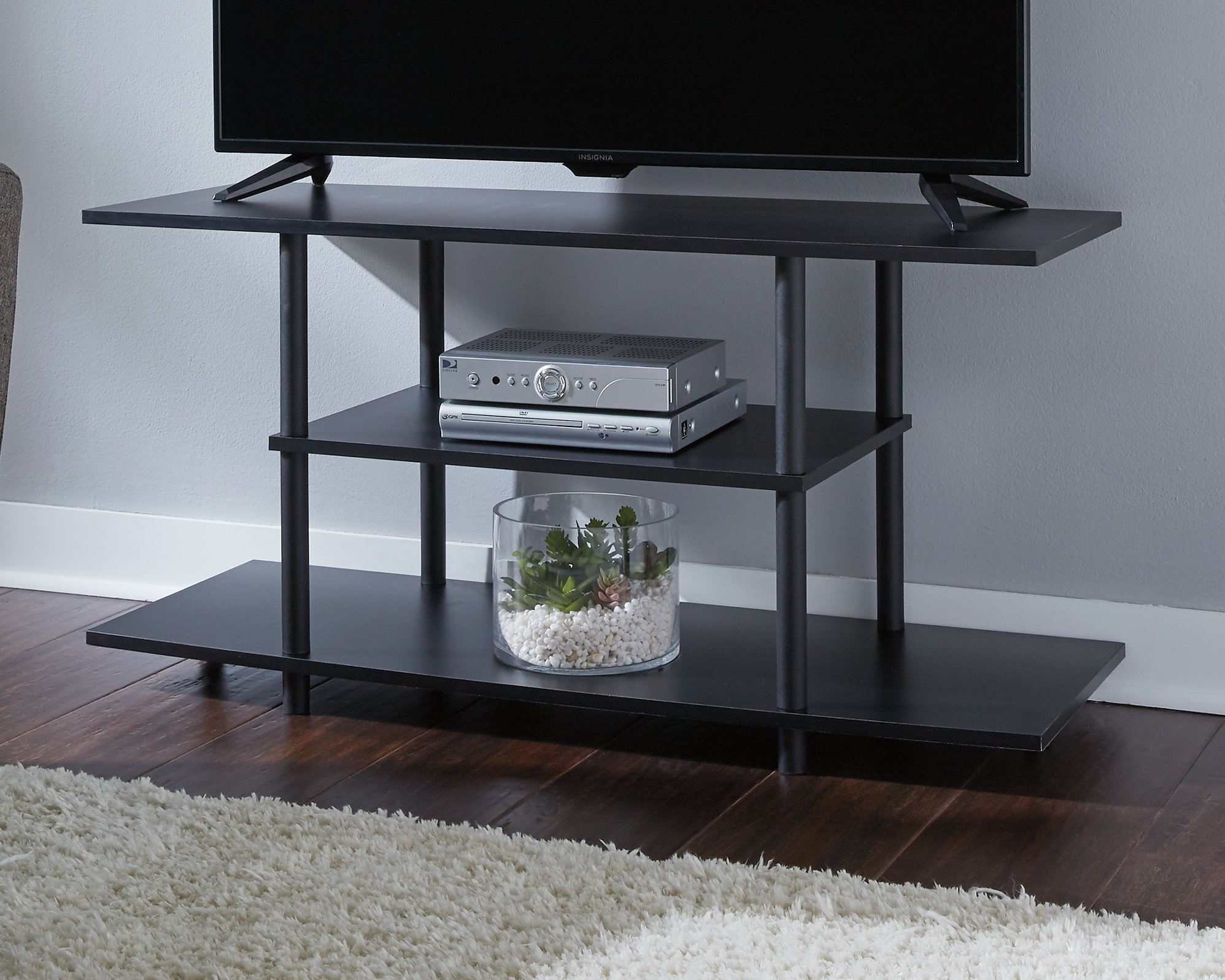 "Benchcraft Cooperson- 42"" Black, Contemporary TV Stand W380-118"