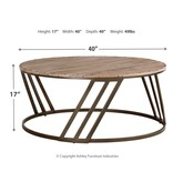 Signature Design Fathenzen Round Cocktail Table- Two Tone- T536-8