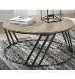 Signature Design Fathenzen Round Cocktail Table- Two Tone- T536-8
