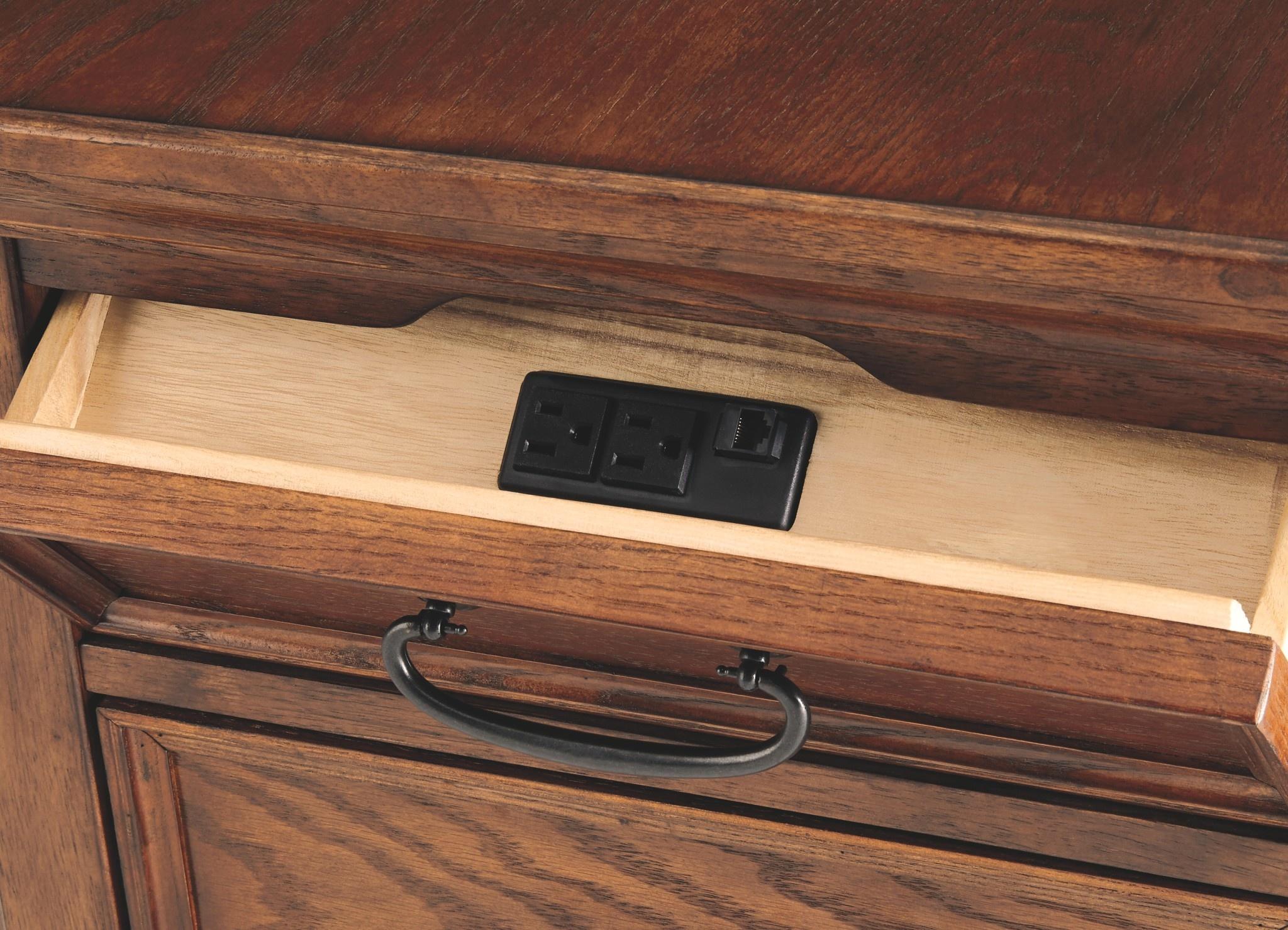 Signature Design MEDIA END TABLE- Woodboro- T478-17
