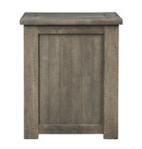 Signature Design Aldwin Rectangular End Table- Powered w/USB- Gray T837-3