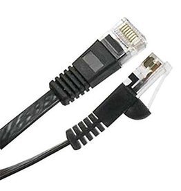 Cat5e 30AWG UTP Flat Ethernet Network Patch Cable, 7ft Black