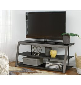 """Rollynx- Black Contemporary TV Stand- 48"""" W326-10"""