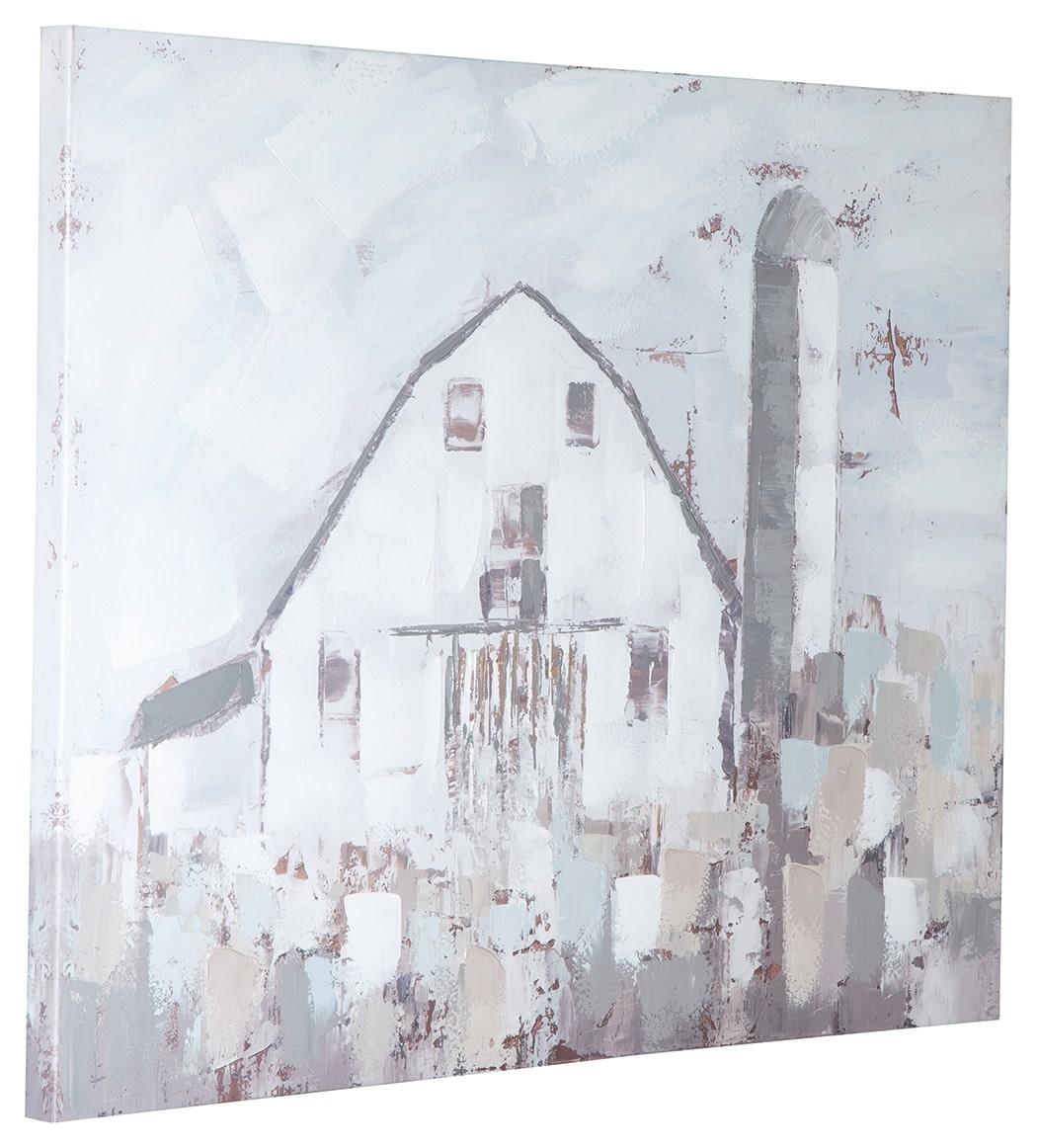 Signature Design Jumana- Blue/Gray/White Wall Art Farmhouse A8000221
