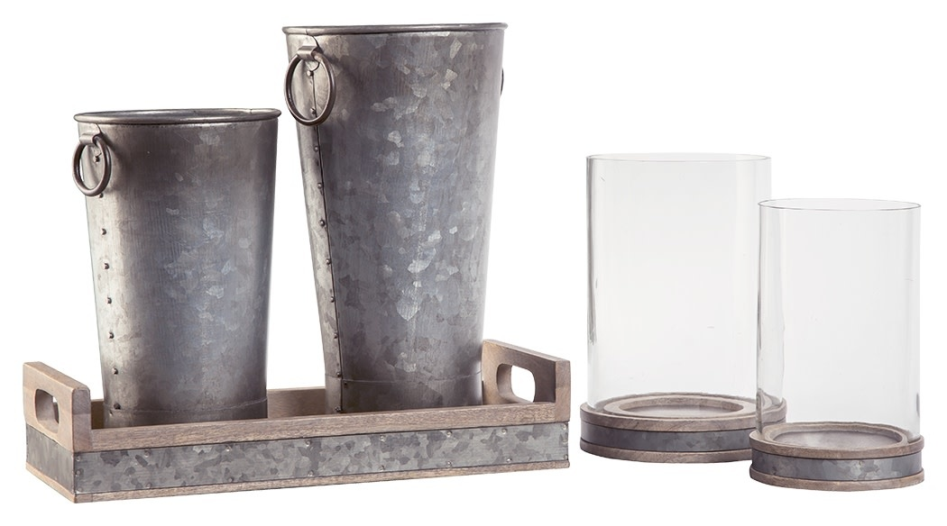 Signature Design Donae- 5 Piece Accessory Set- Natural/Gray A2C00052