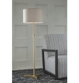 Signature Design Laurinda- Antique Brass Floor Lamp L734281