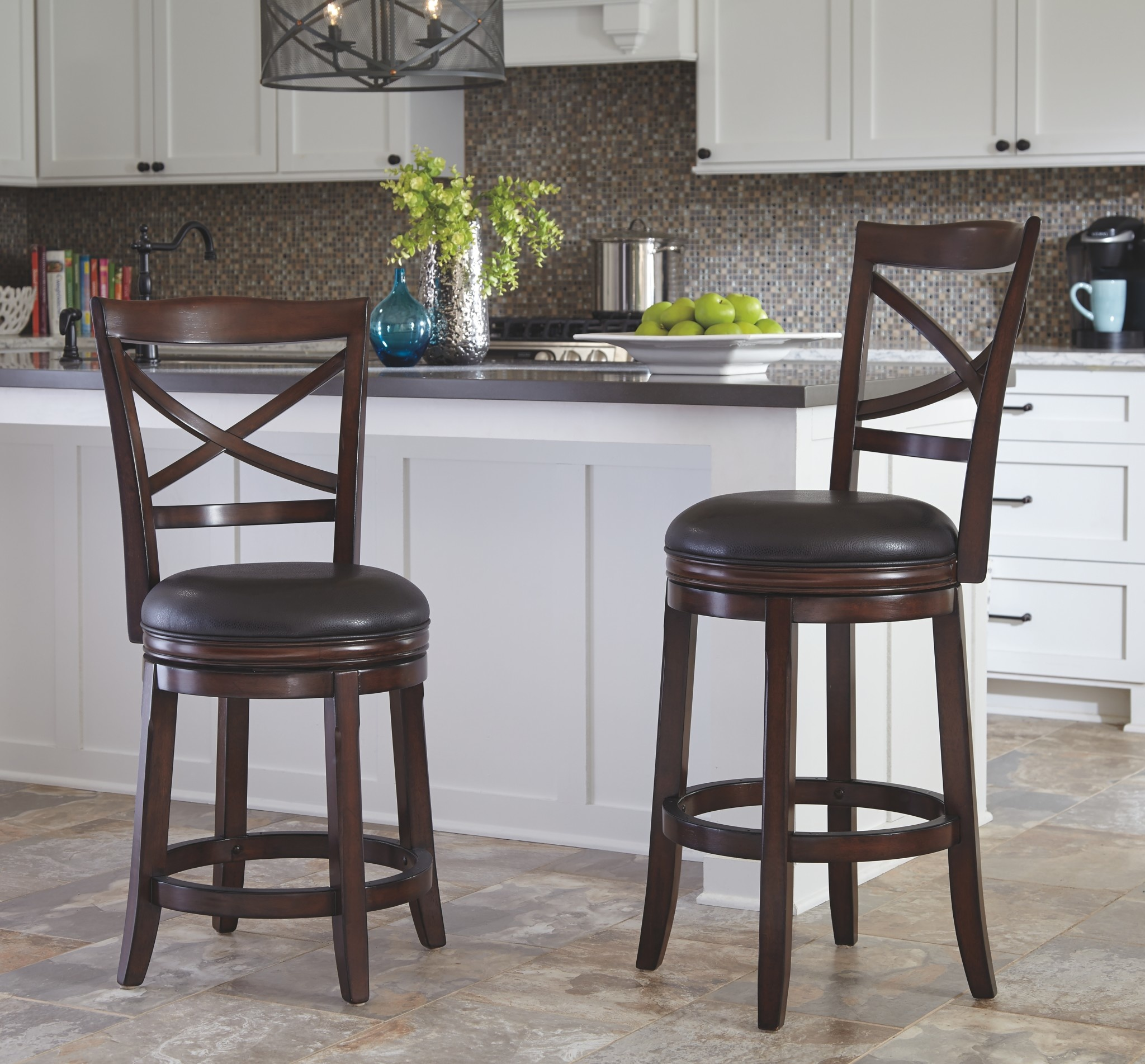 Signature Design Porter- TALL UPH SWIVEL BARSTOOL(2/CN) D697-430